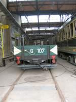 Depot Niederschonhausen/82242/a-beiwagen-g-107-im-depot-niederschoenhausen A-Beiwagen G 107 im Depot Niederschönhausen
