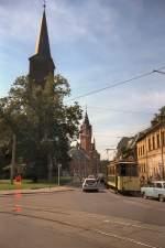 Kopenick Depot/58576/koepenick-mit-hist-strassenbahn-anlaesslich-der Köpenick mit hist. Strassenbahn anläßlich der Fahrzeugausstellung 1993 im Depot Köpenick