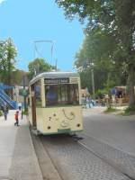 Woltersdorf/17894/ksw-tw-7-an-der-endstelle KSW Tw 7 an der Endstelle Schleuse, 23.5.2009