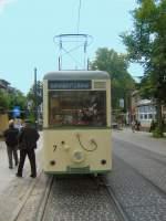 Woltersdorf/17965/noch-eine-kurze-pause-fuer-das Noch eine kurze Pause für das Personal vor der Rückfahrt zum S-Bhf Rahnsdorf, 23.5.2009