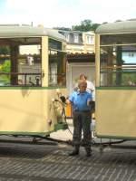 Woltersdorf/18364/ksw-verbinden-der-leiitungen-zum-beiwagen KSW, Verbinden der Leiitungen zum beiwagen, 23.5.2009 Woltersdorf Schleuse