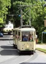 Woltersdorf/18759/ksw-zug-unterwegs-richtung-s-bhf-rahnsdorf-zwischen KSW-Zug unterwegs Richtung S-Bhf Rahnsdorf zwischen Schleuse und Thälmannplatz am 23.5.2009