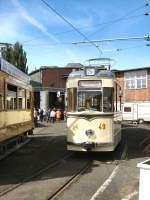 frankfurt-oder-tw-49/16359/gotha-tw-49-er-wagen---altes-depot Gotha-Tw 49, ER-Wagen - altes Depot Bachgasse am 9. 5. 2009