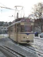 erfurt/45353/tw-178-der-evag-vor-der Tw 178 der EVAG vor der nächsten Stadtrundfahrt-Runde, 4. Advent 2009