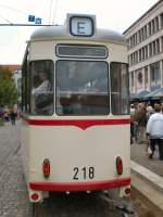 potsdam/43499/gotha-beiwagen-218-in-potsdam-am-platz Gotha-Beiwagen 218 in Potsdam am Platz der Einheit, 2. 9. 2007