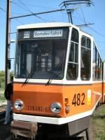 berlin---kt4d-482/14849/tatra-kt4d-wagen-482-in-der TATRA KT4D Wagen 482 in der Endschleife Frz.Buchholz am 19.4.2009