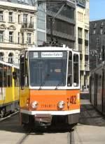 berlin---kt4d-482/15152/tw-482-als-linie-22-am Tw 482 als Linie 22 am Hackschen Markt, 19.4.2009