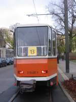berlin---kt4d-482/493/heckansicht-tw-482-als-linie-13 Heckansicht Tw 482 als Linie 13 bei einer Sonderfahrt Herbst 2006 in Berlin