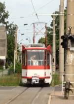 Cottbus - KT4D/66619/kt4d-verlaesst-die-endstelle---sonderfahrten KT4D verlässt die Endstelle - Sonderfahrten Cottbus 2009