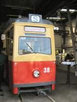 frankfort-oder-tw-38-lowa/16669/lowa-tw-54-in-der-wagenhalle-altes LOWA-TW 54 in der Wagenhalle, altes depot Bachgasse - 9. 5. 2009