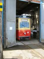 frankfort-oder-tw-38-lowa/16670/tw-38-in-der-wagenhalle-altes TW 38 in der Wagenhalle, altes Depot Bachgasse - 9. 5. 2009