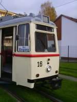 Gera - Tw 16/592/stirnansicht-tw-16-in-gera-zwoetzen-2006 Stirnansicht Tw 16 in Gera-Zwötzen, 2006