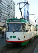 Magdeburg - T4/186323/tatra-auf-der-linie-1 Tatra auf der Linie 1