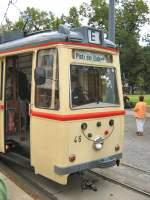 potsdam---tw-46-gast/43402/tw-46-in-der-scchleife-am Tw 46 in der Scchleife am Platz der Einheit, Potsdam 2. 9. 2007