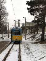 TWB Zweirichtungswagen/1310/tw-528-der-thueringerwaldbahn-am-bahnhof Tw 528 der Thüringerwaldbahn am Bahnhof Waltershausen, 2006