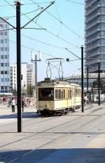 Berlin - Tw  5984/2772/hist-strassenbahnzug-mit-tw-5984-und Hist. Strassenbahnzug mit Tw 5984 und Beiwagen auf dem Alexanderplatz, Sommer 2007