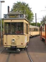 Berlin - Tw  5984/28263/tw-5984-in-mahlsdorf-beschilder-mit Tw 5984 in Mahlsdorf, beschilder mit Mahlsdorf Süd - Berlin 9.8.2009