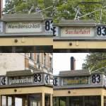 Berlin - Tw  5984/28704/verschiedene-zielschilder-beim-tw-5984-bei Verschiedene Zielschilder beim Tw 5984 bei der Themenfahrt August 2009