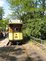 Berlin - Tw 10/16473/tw-10-an-der-endstelle-altes Tw 10 an der Endstelle Altes Wasserwerk in Friedrichshagen, 10. 5. 2009