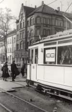Erfurt - Tw 92/128054/tw-92-in-der-magdeburger-allee Tw 92 in der Magdeburger Allee, vor 1989