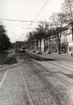Erfurt - Tw 92/128064/tw-92-in-der-heutigen-magdeburger Tw 92 in der heutigen Magdeburger Allee, vor 1989