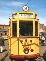 frankfurt-oder-tw-60/16596/tw-60-steht-vor-der-wagenhalle Tw 60 steht vor der Wagenhalle, altes Depot Bachgasse - 9. 5. 2009