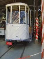 Halle - hist. Tw/32521/hist-strassenbahnwagen-in-aufarbeitung-museumsdepot-hallesaale Hist. Strassenbahnwagen in Aufarbeitung, Museumsdepot Halle/Saale - September 2009