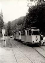 KirnitzschtalbahnTW exErfurt/127748/endstation-lichtenhainer-wasserfall-mit-tw-6 Endstation Lichtenhainer Wasserfall mit Tw 6