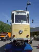KirnitzschtalbahnTW exErfurt/142134/tw-der-kirnitzschtalbahn-ex-lockwitztalbahn-ex Tw der Kirnitzschtalbahn, ex Lockwitztalbahn, ex Erfurt im Bh Urbicher Kreuz 2011