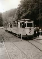 KirnitzschtalbahnTW exErfurt/4780/kirnitzschtalbahn-ex-erfurter-triebwagen-hier-am Kirnitzschtalbahn, ex Erfurter Triebwagen hier am Lichtenhainer Wasserfall