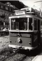 Tw 9 ex Lockwitztalbahn/116042/hist-tw-9-in-bad-schandau Hist, Tw 9 in Bad Schandau, vor 1989