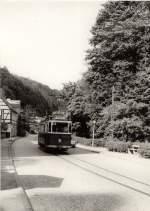 Tw 9 ex Lockwitztalbahn/116050/hist-tw-9-in-bad-schandau Hist. Tw 9 in Bad Schandau