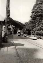Tw 9 ex Lockwitztalbahn/116051/hist-tw-9-in-bad-schandau Hist. Tw 9 in Bad Schandau, vor 1989