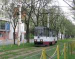 Strassenbahnlinien Stettin/7687/solotriebwagen-der-linie-9-mai-2006 Solotriebwagen der Linie 9, Mai 2006